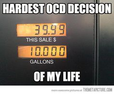 Anybody else always try to round up to the dollar?  Hardest OCD decision of my life!  LOL.