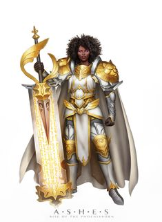 f Paladin Platemail Armor Cloak Sword hilvl ArtStation - Odette, Fernanda Suarez Female Character Design, Character Design Inspiration, Character Art, Character Ideas, Female Armor, Female Knight, Aasimar Paladin Female, Lady Knight, Dungeons And Dragons Characters