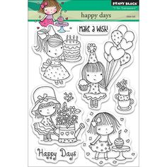 Penny Black Clear Stamps - Happy Days
