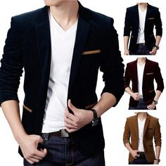 amazones gadgets B, Mens British Style Casual Single Bottun Long Sleeve Business Suit: Bid: 39,06€ Buynow Price 39,06€ Remaining Negócio…