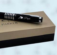 PARKER - FRONTIER STAINLESS STEEL GT FOUNTAIN PEN | Engraved Pen ...