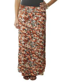 Wet Seal Women's Camo Rose Print Maxi Skirt