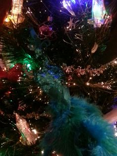 Last year I decorated my tree with peacocks