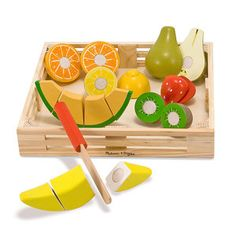 Cutting Fruit now featured on Fab. Wooden Food e34213dfc9