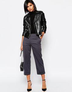 Изображение 1 из Темно-серые укороченные брюки Sisley