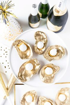 Champagne truffles on gold shells get a 10/10 for taste and presentation!