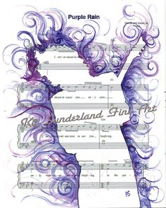 Purple Rain a Tribute to Prince 11x14 by Kit Sunderland Fine Artist  Watercolor on sheet music.   Painting, creating, loving helps to relief some pain.  I hope this helps you find peace.