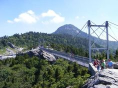 Swinging Bridge- Grandfather #Mountain, #NC Beautiful