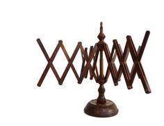 Vintage wooden yarn winder or umbrella yarn swift  - Knitting accessories - Rustic home decor - 1960s