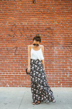 fashion blogger, petite fashion blog, fashionista, lace and locks, los angeles fashion blogger, floral maxi skirt, morning lavender boutique...