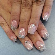 70 Ideas of French Manicure   Pinterest   Sparkly french ...