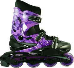 Linear Purple Camo Inline Skates - Indoor Outdoor Roller Blades #RCSPORTS