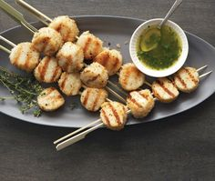 Grilled Sea Scallops Recipe | from Giuliano Hazan's Hazan Family Favorites cookbook | House & Home