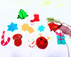 No sewing no glue forgotten profession autor galerytouchofrainbow Xmas Deco, Xmas Ornaments, Poodle, Recycling, Felt, Christmas Tree, Diy, Flowers, How To Make