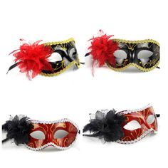 Sexy-Venetian-Lace-Feather-Ball-Masquerade-Paillette-Flower-Party-Eye-Masks-BU05