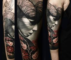Woman face tattoo by Timur Lysenko No. Here we have best wallpaper about face tattoo designs women. We hope these photos can be. Bild Tattoos, Leg Tattoos, Body Art Tattoos, Tatoos, Sick Tattoo, Calf Tattoo, Slavic Tattoo, Face Tattoos For Women, Tattoos Gallery