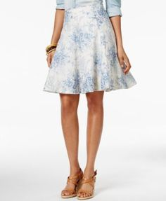 American Living Floral Printed A-Line Skirt, Only at Macy's