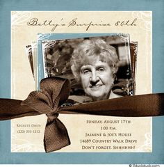 80th Birthday Party Invitation Ideas