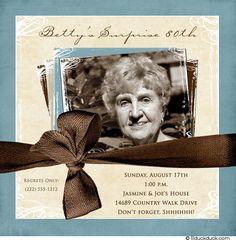 80th Birthday Party Invitation Ideas