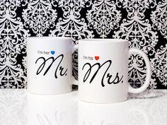 I'm her MR. & I'm his MRS  Wedding Gift 11oz Coffee Mug