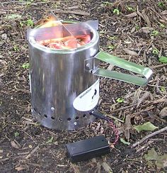 Intriguing - Woodgas Camp Stove LE  (like a Kelly Kettle or rocket stove) - just burns on twigs!