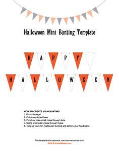Halloween mini bunting template