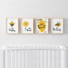 Bumble Bee Nursery, Baby Bumble Bee, Sunflower Nursery, Sunflower Room, Baby Room Decor, Wall Decor, Nursery Decor, Baby Room Art, Tray Decor