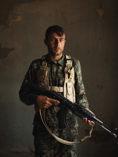 Mahir Barkar, 19-years-old | PHOTO ESSAY THE SOLDIERS OF SINJAR Forced from their homes, a ragtag group of Kurdish mountain men are headed home to fight the Islamic State to the death. PHOTOGRAPHS BY ANDREW QUILTY