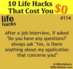 """Those 10 selected life hacks include some clever tips to solve bothersome daily life issues: How to answer """"Do you have any questions"""" during your job interview? How to get rid of bad breath? How to make meal from whatever you have in the fridge? How to make your phone choose the best song for …"""