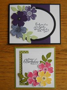 punch out 2 sized ovals, match with patterned paper, add flowers and maybe some buttons and greeting