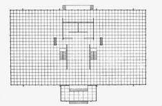 S.R. Crown Hall Floor Plan