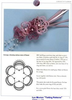 Patterns Free Bead Tatting | Tatting Pattern Central - Links to Free, Online Plant  Flower Tatting ...