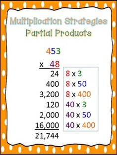 3 Posters that give examples of three multi-digit multiplication strategies, including the traditional algorithm, partial products, and lattice. Check out my Multiplication Task Card Bundle Check out my Multi-Digit Multiplication Project! Multi Digit Multiplication, Multiplication Strategies, Math Strategies, Math Resources, Math Activities, Partial Product Multiplication, Lattice Multiplication, Math Fractions, Math Games