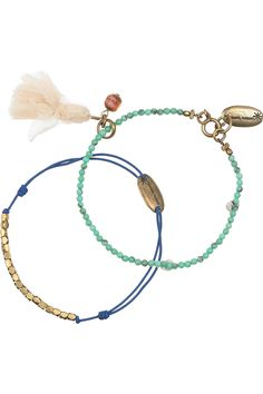 ISABEL MARANT  Pop Color & Simple Me set of two beaded silk bracelets