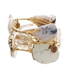 The Paper Store Bourbon and Boweties Medium White Stone Bracelet