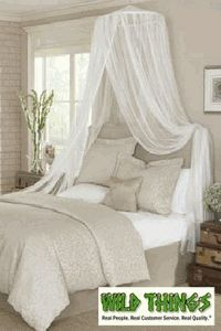Canopy -  Dreamy  Mosquito Net Bed Canopy - White & How to make a princess bed crown | ehow A crown on the headboard ...
