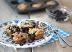 Gezonde muffins - Havermout, melk, ei, banaan, kaneel, blauwe bessen, bakpoeder - 19.01.2015