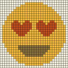 Alpha friendship bracelet pattern added by emoji hearts eyes iphone love. Beaded Cross Stitch, Cross Stitch Embroidery, Cross Stitch Patterns, Emoji Patterns, Alpha Patterns, Pearler Bead Patterns, Perler Patterns, Loom Beading, Beading Patterns