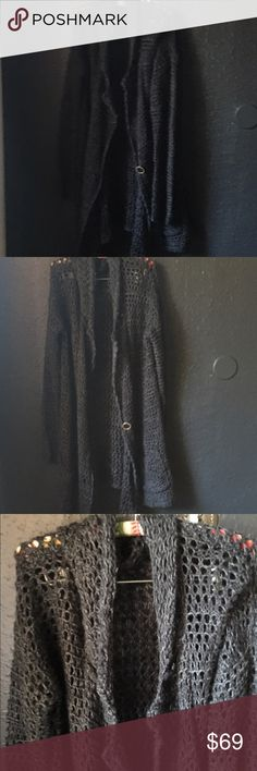 Free People crochet Cardi Free people cardigan,like NEW,has pockets and big buttons Free People Sweaters Cardigans