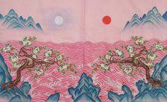 Korean Art, Asian Art, Chinese Prints, Korean Painting, Art Template, Cute Wallpaper Backgrounds, Oriental, Japanese Art, Book Design