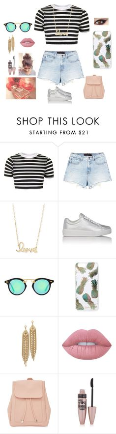 """Day at the beach pt. 1"" by bearteddyblitz on Polyvore featuring Topshop, Alexander Wang, Sydney Evan, Prada Sport, Sonix, Capwell + Co, Lime Crime, New Look and Maybelline"