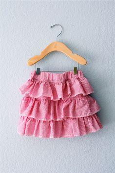ruffled seersucker skirt | MADE