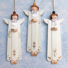 Cute little Popsicle angel ornaments.