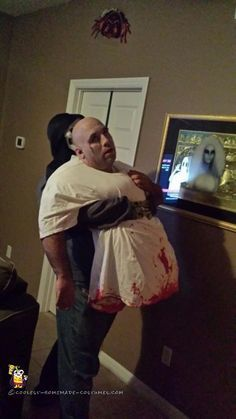 Awesome Optical Illusion Zombie Halloween Costume...