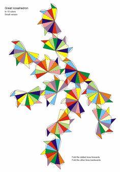 Paper Model Great Icosahedron