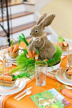 Den Tisch dekorieren in Gelb und Grün passend zu Ostern