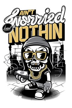 Skull Hiphop by thinkd on deviantART