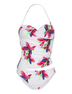 bf57afaee9970 Topkini mit Blütenprint, multicolor, grün, pink, weiss | MADELEINE Mode  Österreich