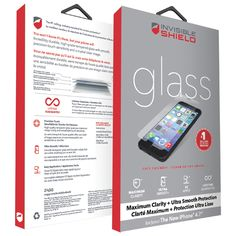 InvisibleShield by ZAGG iPhone 6 Glass Screen Protector - Clear : iPhone 6 Screen Protectors - Best Buy Canada $51.00