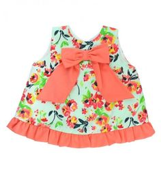 e043b6b038 Painted Flowers Bow-Front Swing Top Ruffle Bloomers